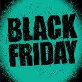 Black Friday projekta szablon w grunge stylu Emblemata plakat nigh Fotografia Stock