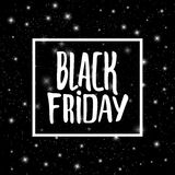 Black Friday promo banner vector background. Black Friday promo vector background. Retail promotion banner design for discount offer or final clearance on Royalty Free Stock Images