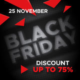 Black Friday promo banner vector background Stock Photography