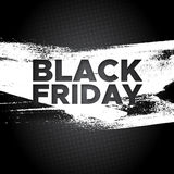 Black Friday promo banner vector background Royalty Free Stock Photos
