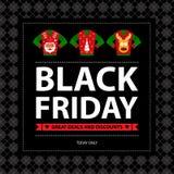Black Friday Promo Poster Royalty Free Stock Photos
