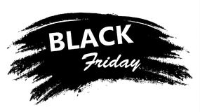 Black Friday Promotion Label in Grunge Style. With Brush Strokes. Vector Illustration Stock Illustration