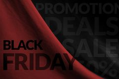 Black Friday Promotional Concept on Fabric background Stock Image
