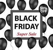 Black Friday promotional flyer, poster, invitation, banner. Template for your design. Special offer, discounts. Vector Stock Images