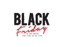 Black friday quote stock illustration