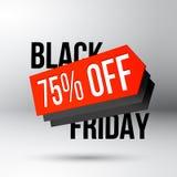 Black Friday rabattaffisch med försäljningsprislappen Royaltyfria Bilder