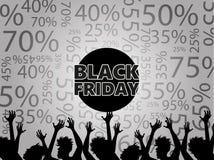 Black Friday rabatter Royaltyfria Foton