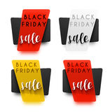 Black Friday. Realistic sticker in 3D. Vector sale Stock Image