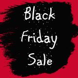 Black Friday Red and Black Banner Stock Photography
