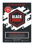 Black Friday reklamblad, baner, affisch med modern design royaltyfri illustrationer