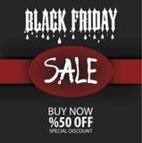 Black Friday reklambladmall, broschyr, Eps-mapp Arkivbild