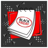 Black friday with reminder paper stock vector. EPS file available. see more images related royalty free illustration