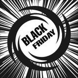 Black Friday, retro esplosione Immagine Stock