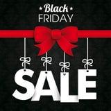Black Friday Ribbon Bow Wallpaper Ornaments Royalty Free Stock Images