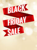 Black Friday ribbon. EPS 10. Black Friday ribbon design element. EPS 10 vector file included Royalty Free Stock Image
