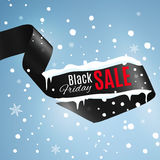 Black friday ribbon. Stock Vector Illustration:Satin ribbon with Black Friday SALE text royalty free stock photography