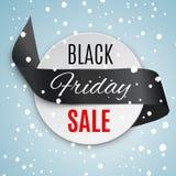 Black friday ribbon. Stock Vector Illustration:Satin ribbon with Black Friday SALE text stock photos