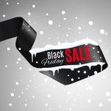 Black friday ribbon. Stock Vector Illustration:Satin ribbon with Black Friday SALE text royalty free stock photos