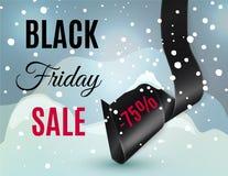 Black friday ribbon Stock Photo