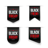 Black Friday ribbon tag vector Royalty Free Stock Images