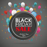 Black Friday Ring Balloons Percents Fotografia Stock