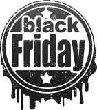 Black friday rubber stamp. Stock Images