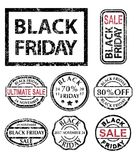 Black Friday rubber stamps set Royalty Free Stock Photos