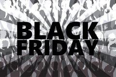 Black Friday rusar Arkivfoto
