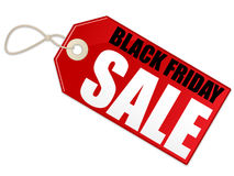Black Friday Sale. An illustration of a sale tag advertising Black Friday. Shadow placed on separate layer Stock Photography