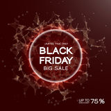 Black Friday sale abstract background. Futuristic technology style. Big data. Design with plexus. Stock Images