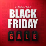 Black Friday Sale Abstract Background. Vector Banner. Royalty Free Stock Image