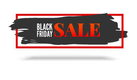 Black Friday sale, abstract banner with red frame on white background Stock Image