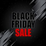 Black friday sale with abstract elements on black background. Vector illustration. Stock Image