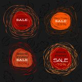 Black friday sale. Abstract frames Royalty Free Stock Images