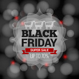 Black Friday sale on abstract lights background Stock Image