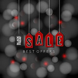 Black Friday sale on abstract lights background Stock Photos