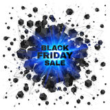 Black friday sale abstract shaded cubes blue. Black friday sale abstract shaded cubes vector blue explosion Royalty Free Stock Photos