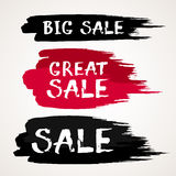 Black Friday Sale Abstract Vector ink brush hand drawn lettering.  Royalty Free Stock Images