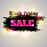 Black Friday sale. Abstract vector shining background for Black Friday sale Stock Photos