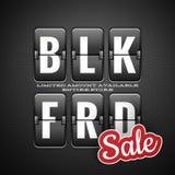 Black friday sale, analog flip clock style. EPS 10 Royalty Free Stock Photo