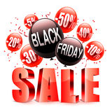 Black Friday Sale Announcement Stock Images