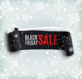 Black Friday sale background with black realistic Royalty Free Stock Photos