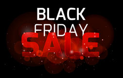Black friday sale background bright sparkles a. Nd bokeh for your business Stock Image