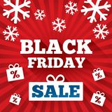 Black Friday Sale background. Christmas background. With flat icons. Special offer backdrop. New year discounts Stock Images