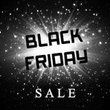 Black friday sale background  dark explosion Royalty Free Stock Photography