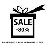 Black friday sale background. Royalty Free Stock Photo