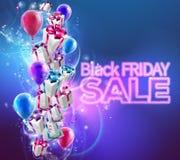 Black Friday Sale Background Stock Image