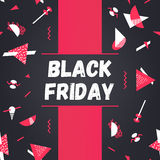 Black friday sale background. Royalty Free Stock Images