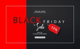 Black friday sale background. Modern design.Universal vector background for poster, banners, flyers, card. Black friday sale background. Modern design.Universal Royalty Free Stock Photography