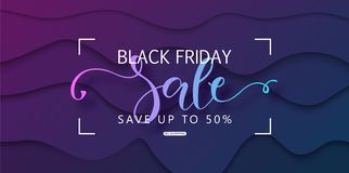 Black friday sale background. Modern design.Universal vector background for poster, banners, flyers, card. vector illustration